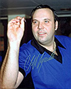 Cliff Lazarenko, Darts, Genuine Signed Autograph